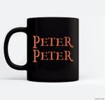 Funny Peter Peter Pumpkin Eater Costume Matching Halloween Ceramic Coffee Black Mugs