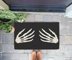 Funny Skeleton Hands Halloween Night Party Costume Doorrmat
