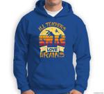 Funny Teacher All Teachers Love Brains Funny Halloween Sweatshirt & Hoodie