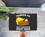 Funny Trump Trumpkin Pie Make Thanksgiving Great Again Doorrmat