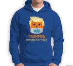 Funny Trumpkin Halloween Trump 202X No More Boo Sheet Sweatshirt & Hoodie