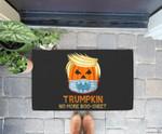 Funny Trumpkin Halloween Trump 202X No More Boo Sheet Doorrmat