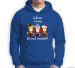 Funny Who Loves Howl-a-ween Owl Costume Adorable Halloween Sweatshirt & Hoodie
