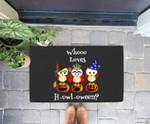 Funny Who Loves Howl-a-ween Owl Costume Adorable Halloween Doorrmat