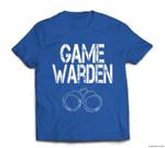Game Warden Handcuffs Lazy Halloween Costume T-shirt