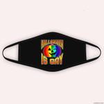 Gay Pride Halloween LGBT Rainbow Pumpkin Halloween Is Gay Cloth Face Mask
