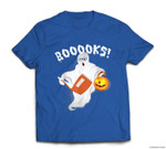 Ghost Reading Books - Funny Halloween Book Lover T-shirt