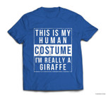 Giraffe Halloween Costume Funny Easy for Kids Adults T-shirt