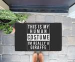 Giraffe Halloween Costume Funny Easy for Kids Adults Doorrmat
