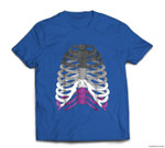 Funny Halloween Skeleton - Asexual Pride Graphic T-shirt