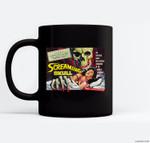 Giant Skull Classic Halloween Monster Poster Horror Movie Ceramic Coffee Black Mugs