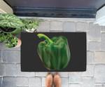Green Bell Pepper Halloween Costume Veggie Salad Doorrmat