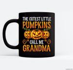 Grandma Halloween The Cutest Little Pumpkins Call Me Grandma Ceramic Coffee Black Mugs