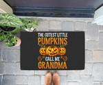 Grandma Halloween The Cutest Little Pumpkins Call Me Grandma Doorrmat