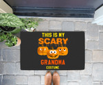Grandma Halloween This Is My Scary Grandma Costume Doorrmat