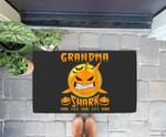 Grandma Shark Boo Boo Pumpkin Halloween Grandma Gift Doorrmat