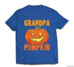 Grandpa Pumpkin Retirement Gift Jack O Lantern Halloween T-shirt