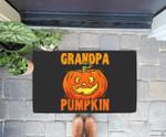 Grandpa Pumpkin Retirement Gift Jack O Lantern Halloween Doorrmat