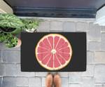 Grapefruit Pomelo Citrus Fruit DIY Easy Halloween Costume Doorrmat
