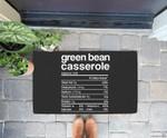 Green beans Casserole Nutrition Facts Funny Thanksgiving Doorrmat