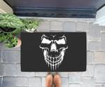 Halloween - funny skeleton skull scary face Doorrmat