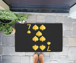 7 Of Spades Playing Card Costume Funny Halloween Gifts Doorrmat