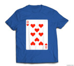 8 Eight Of Hearts Playing Cards Easy Halloween Costume T-shirt