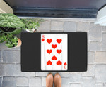 8 Eight Of Hearts Playing Cards Easy Halloween Costume Doorrmat