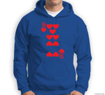 9 of Hearts - Playing Card Halloween Costume Sweatshirt & Hoodie