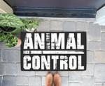 Animal Control Halloween Gift for an Officer Doorrmat