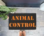Animal Control Halloween Doorrmat