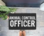 Animal Control Officer Halloween Costume Doorrmat