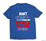 Aunt By Day Zombie Slayer By Night Halloween costume T-shirt