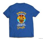 Awesome I Am Giraffe Retro Costume Funny Easy Halloween Gift T-shirt