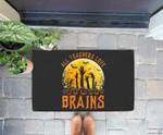 Halloween All Teachers Love Brains Zombie School Gift Doorrmat