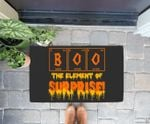 Halloween Boo Art  Chemistry Teacher Element Surprise Quote Doorrmat