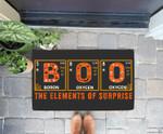 Halloween BOO Primary Elements of Surprise Science Doorrmat