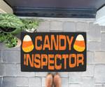 Halloween Candy Corn Inspector Funny Gift Mens Women Doorrmat
