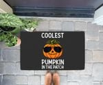 Halloween Coolest Pumpkin In The Patch Boys Girls Kids Doorrmat