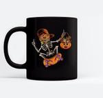 Skateboarding Skeletons Skeleton Skater Halloween Skate Ceramic Coffee Black Mugs