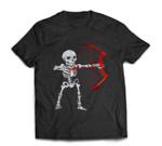 Skeleton Archery Bow Hunting Halloween T-shirt