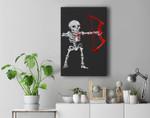 Skeleton Archery Bow Hunting Halloween Premium Wall Art Canvas Decor