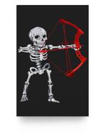 Skeleton Archery Bow Hunting Halloween Matter Poster