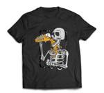 Skeleton drink beer halloween T-shirt