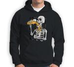 Skeleton drink beer halloween Sweatshirt & Hoodie
