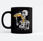 Skeleton drink beer halloween Ceramic Coffee Black Mugs