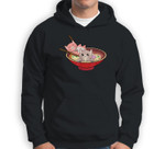 Kawaii Cats In A Ramen Bowl  Anime Food Lovers Gift Sweatshirt & Hoodie