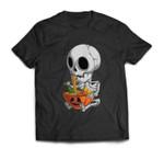 Kawaii Japanese Anime Skeleton Halloween Ramen Food Lovers T-shirt