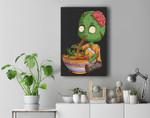 kawaii japanese anime Zombie Halloween ramen Food Lovers Premium Wall Art Canvas Decor