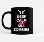 Keep Calm and Kill Zombies Ceramic Coffee Black Mugs